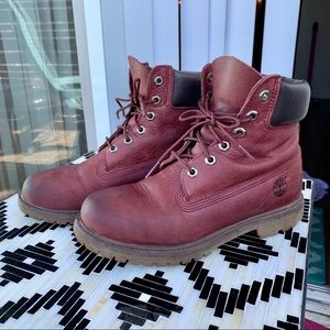 Timberland 6-Inch Waterproof Boots | Maroon | 8